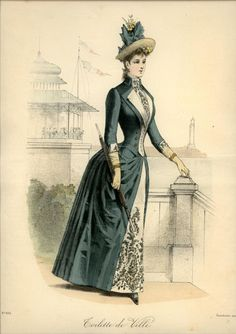Lovely collar details. Le Coquet, 1888