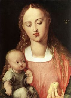 Durer - Madonna and Child with the Pear 1526 Oil on wood, 43 x 32 cm Galleria degli Uffizi, Florence