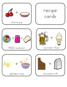 **** kid-friendly recipe cards builds literacy too!