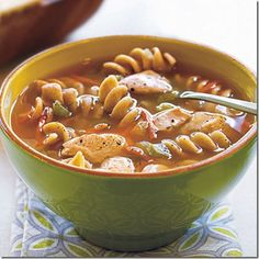 Chicken Pasta Soup - #FavoriteFood, #Recipes
