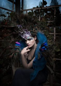Peacock Make-up. Lilly meets Lola International Makeup Schools. Photo: Sylwia Makris