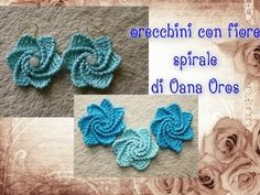 crochet - earrings - bit tricky but very cute - orecchini spirale all'uncinetto - tutorial in italian - features punto gambero (crab stitch?) for ridges