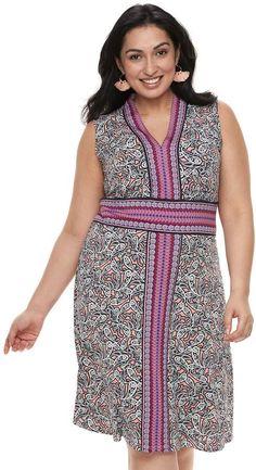 Plus Size Suite 7 Printed Sleeveless Dress, Aqua Mosaic Paisley Dresses For Work, Summer Dresses, African Dress, Coral, Aqua, Paisley, That Look, High Neck Dress, Plus Size