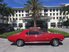Car brand auctioned: Ford Mustang Coupe 1967 Car model ford mustang coupe red with red 82 000 actual miles runs great
