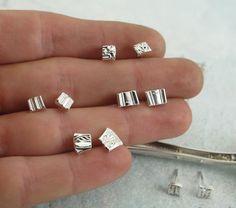 Sterling Silver Stud Earrings  Spoonies by by KathrynRiechert