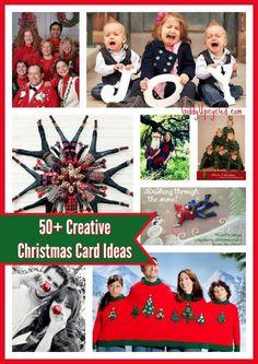 50 creative christmas card ideas and christmas card photo poses by giddyupcycledcom - Unique Christmas Card Ideas