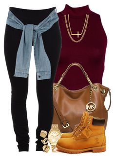 """""""Ehh but Happy New Years :)"""" by livelifefreelyy ❤ liked on Polyvore featuring moda, MICHAEL Michael Kors, Helmut Lang, Michael Kors, Timberland, River Island, ASOS y Reeds Jewelers"""