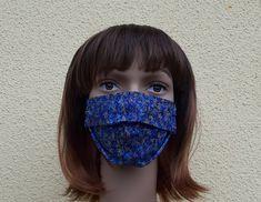 Designer Mundschutz, Mundmaske, einlagig für den Sommer, Blau Designer, Etsy, Vintage, Protective Mask, Craft Gifts, Masks, Summer, Blue, Schmuck