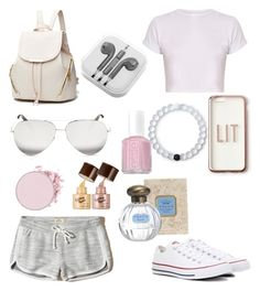 """""""Untitled #24"""" by raquel-valadao on Polyvore featuring Hollister Co., Converse, PhunkeeTree, Victoria Beckham, Missguided, Lokai and Essie"""