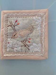 Enjoying using vintage lace scraps for Gentlework
