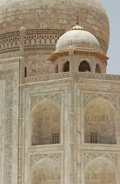 Minor dome on the Taj Mahal, Agra.