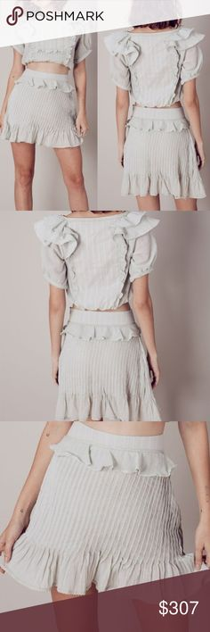 Spotted while shopping on Poshmark: NWT For Love And Lemons Ruffled Crop Top + Skirt! #poshmark #fashion #shopping #style #For Love And Lemons #Dresses & Skirts