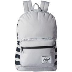 Herschel Supply Co. Pop Quiz (Lunar Rock Offset) Backpack Bags ($68) ❤ liked on Polyvore featuring bags, backpacks, silver, pocket backpack, strap bag, backpacks bags, laptop backpacks and padded laptop backpack