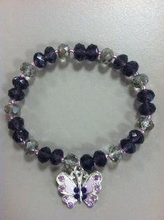 Cystic Fibrosis Fundraiser Stretch Bracelet by BedazzledBijoux, $10.00