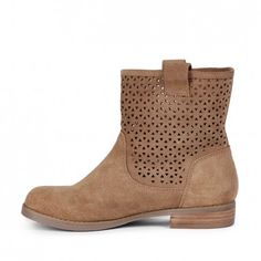 Women's Tan Suede 3/4 Inch Suede Boot | Kaye by Sole Society