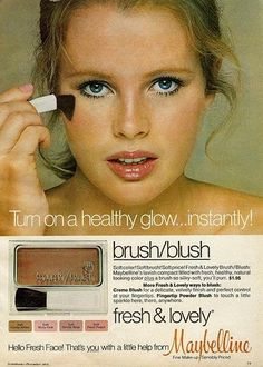 I remember this product! My ma used to buy this blush! Recognize the model? Kim Basinger!