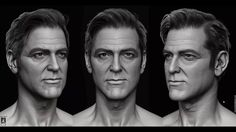 Sculpting George Clooney in ZBrush by Hossein Diba