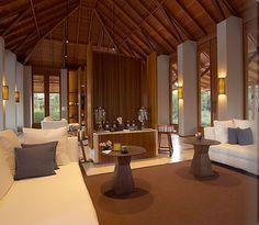 The spa lounge, Amanyara Villa Design, Interior Architecture, Interior And Exterior, Resort Interior, Public Hotel, Tropical Interior, Modern Tropical, Luxury Beach Resorts, Restaurants