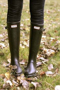 Hunter wellies - Whenever I pull on my trusty blue pair, I'm guaranteed a fun day