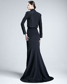 Vestidos de fiesta en color negro de Carolina Herrera [Fotos]