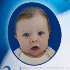 Artist's conception (close-up) of how my granddaughter Stella would look on Gerber Baby Food. I'm the artist.