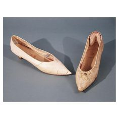 Woman's Shoes about 1795-1800 Shoemaker:Made by Unknown  Hand-stitched leather, linen, and wood