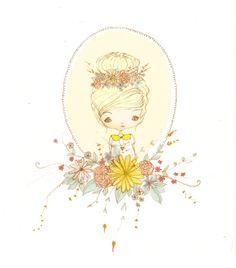 des fleurs et du jaune par Ombeline Brun