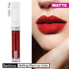 Si buscas labiales mate de larga duración y que no te resequen tus labios: #Bettina Matting Effect #Lip Color. #mattelips #Lipstick #MatteLipstick