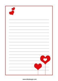 Printable Letter Writing Template Elegant Love Letter Paper Template Valentine S Day Letter Writing Template, Santa Letter Template, Letter Templates, Paper Templates, Printable Lined Paper, Free Printable Stationery, Printable Letters, Valentine's Day Letter, Stationery Paper