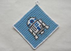 Potholder Crochet Pattern - for beginners : Make you own potholder. Potholder Crochet Pattern – for beginners : Make you own potholder. Potholder Patterns, Crochet Potholders, Crochet Patterns For Beginners, Knitting For Beginners, Knitting Charts, Knitting Patterns, Darth Vader, Make Your Own, Make It Yourself