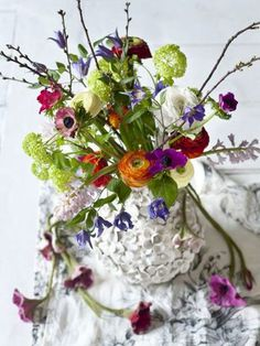 When arranging flowers at home have FUN! There are NO rules!