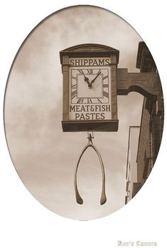 The Old Shippams Clock    Clock on the front of the old Shippams Factory in East Street Chichester. Note the huge whishbone hanging there. Chicken? Turkey? Who knows?The Old Shippams Clock by Pyogenes Gruffer., via Flickr
