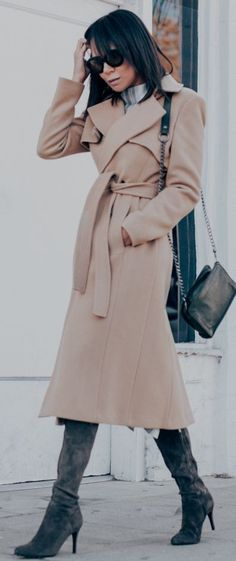 Camel Trench Coat.../Stuff She Likes #camel
