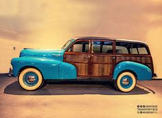 The stunning Chevrolet Woodie Station Wagon from 1946!  #chevrolet #vintagecars #vintagecollection