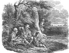 The Jolly Anglers.                                                  From: 1836 Pierce Egan's Book of Sports.                          via Google Books               (PD-150)                     suzilove.com