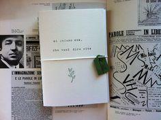Quaderno Fatto a Mano Mi Chiamo Eva : Quadernetti, agende di petilab