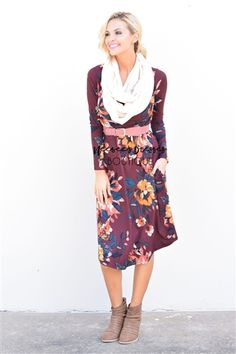 You can't pass up a comfy, floral print dress with pockets!!