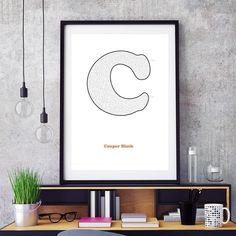 Cooper Black c in white - love this classic typeface. http://ift.tt/1ovw1k5 #typography #maze #mazeart #mazeartwork #art #artwork #print #poster #cooperblack #print #framedart #interactiveart