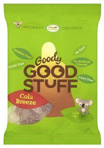 Goody Good Stuff Cola Breeze are simply amazing.   The sweets combine the highest quality blend of ingredients including natural fruit juices and extracts which create a beautifully clear consistency and a superior taste experience. The entire line is vegetarian, fat-free, meat-free, dairy-free, nut-free, Halal and Kosher certified.