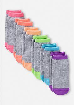 6 Pack Colorblock Socks