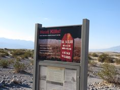 A warning for the uninitiated! We'd figured this out already after going to Badwater though...Stovepipe Wells