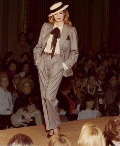 Yves Saint Laurent Haute Couture, 1978.