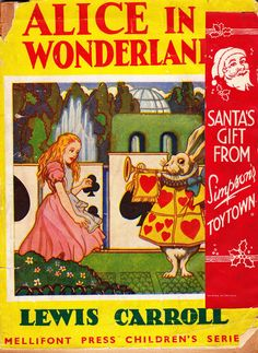 """This is another """"Giveaway Alice"""" but the """"Santa's Gift"""" part is a sticker. Anyone in the UK know anything about Simpson's Toytown?"""