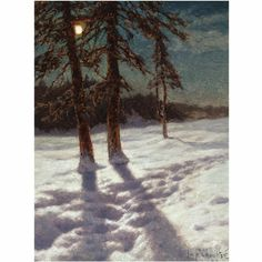 Ivan Fedorovich Choultse (1877 - 1932) - Moonlit Landscape