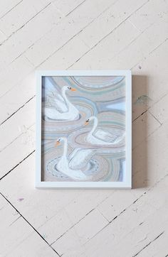 """""""S"""" IS FOR SWAN - PRINT   Lulie Wallace"""