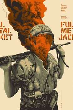 Mondo is celebrating the legacy of Stanley Kubrick with brand new posters for A Clockwork Orange and Full Metal Jacket by Oliver Barrett and A Space [. Movie Poster Art, New Poster, Poster Design Movie, Cool Movie Posters, Vintage Movie Posters, Vintage Movies, Stanley Kubrick, Full Metal Jacket, Plakat Design