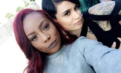 Naima and Kehlani selfies 2016