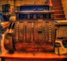 Antique cash register, Vienna