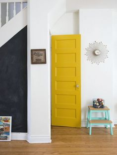Carry over the yellow into laundry room? With blue