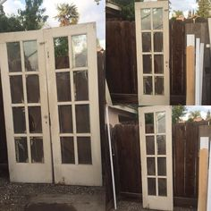 #antique French glass paned doors for sale! Make offer. #architectural #architecturalsalvage #glassfrenchdoors #frenchdoors #glasspanedoor #antique #olddoors #rustic #shabbychic by treasured.blocks